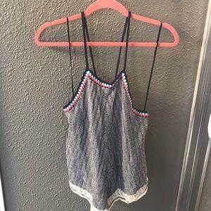 Crochet Criss Cross Spaghetti Strap Top